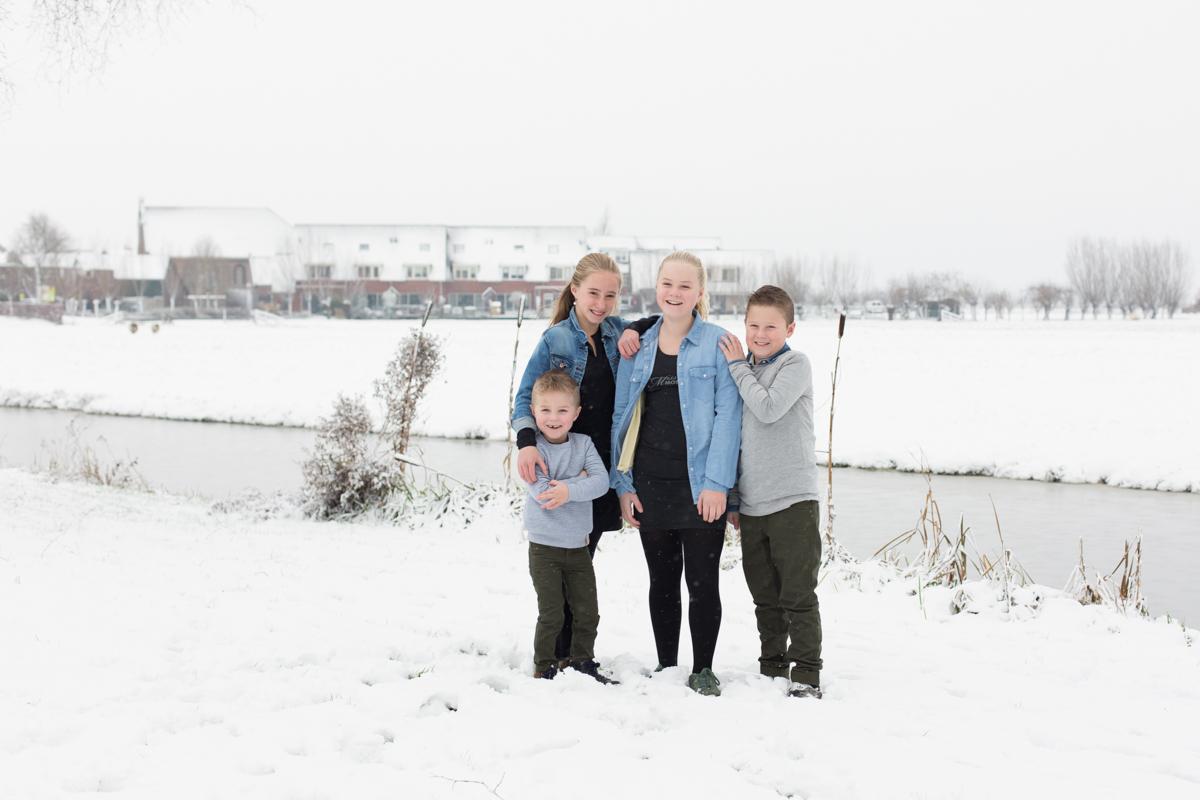 fotosessie in de sneeuw