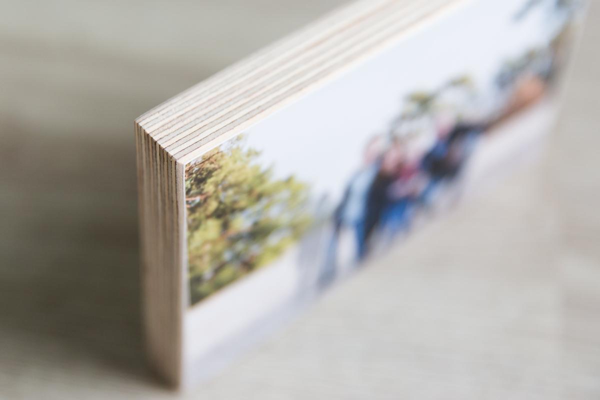 Fotoafdruk op hout