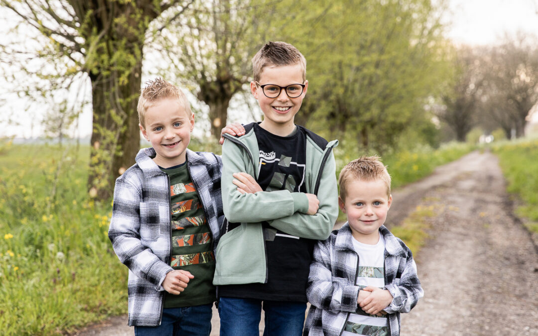 Drie stoere broers